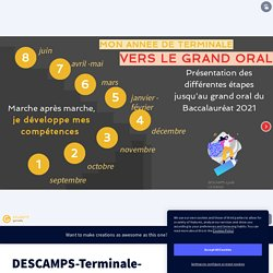 DESCAMPS-Terminale-ConstructionDuGrandOral by descamps.claire on Genially