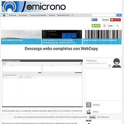 Descarga webs completas con WebCopy