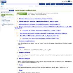 Descarga de software en euskera