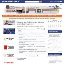 Descarga de Documentación para los Centros