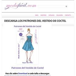 Descarga gratis los Patrones del Coqueto Vestido de Coctel
