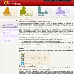 Bases de datos descargables - Observatorio Laboral para la Educación