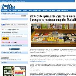 20 websites para descargar miles y miles de libros gratis, muchos en español