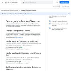 Descargar la aplicación Classroom - Ayuda de Classroom