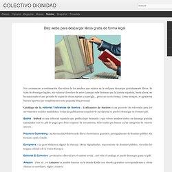 Diez webs para descargar libros gratis de forma legal