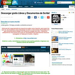 Descargar gratis Libros y Documentos de Scribd