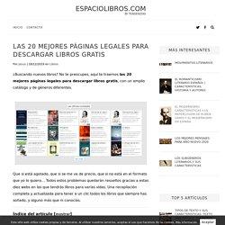 Las 20 mejores páginas LEGALES para descargar libros gratis - Espaciolibros.com