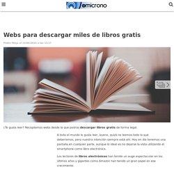 Webs para descargar libros gratis: lectura sin límites