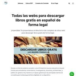 Todas las webs para descargar libros gratis en español de forma legal