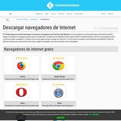 Descargar Navegadores De Internet Gratis - TodoProgramas
