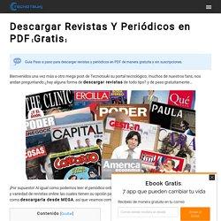 ▷ Descargar Revistas Y Periódicos en PDF【Gratis】