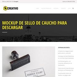 Mockup de sello de caucho para descargar - Diseño Web Tijuana
