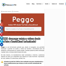 PEGGO: descargar música, videos de YouTube y Souncloud