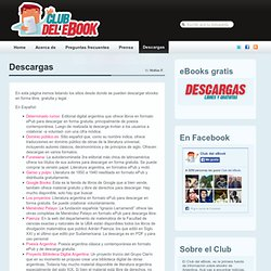 Descargas | El club del ebook