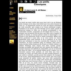 Descartes à Balzac, 05/05/1631 - le mhm