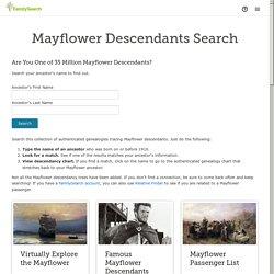 Mayflower Descendants