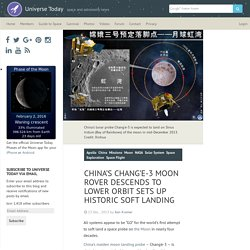 China's Chang'e-3 Moon Rover Descends to Lower Orbit Sets Up Historic Soft Landing