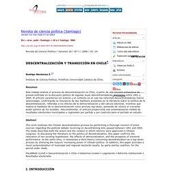 DESCENTRALIZACIÓN Y TRANSICIÓN EN CHILE