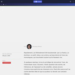 Billet Deschamspons : regardez l'entrevue avec Yvon Deschamps