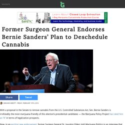 Former Surgeon General Endorses Bernie Sanders' Plan to Deschedule Cannabis