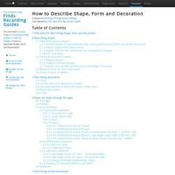 How to Describe Shape, Form and Decoration – Finds Recording Guides