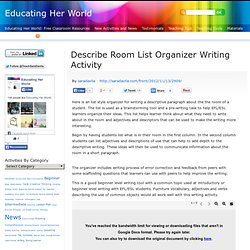 Describe Room List Organizer Writing Activity