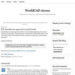 PTC describes its approach to social media - WorldCAD Access