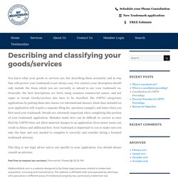 Describing and classifying your goods/services – My Brand Mark Blog