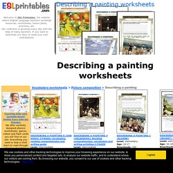 Describing a painting worksheets