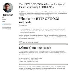 The HTTP OPTIONS method and potential for self-describing RESTful APIs