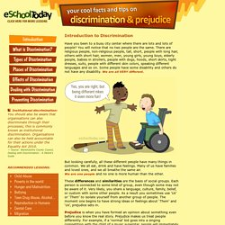 Descrimination, prejudice and stereotype information for young people