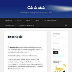 Descripció – Aula de català