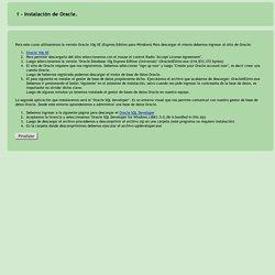 Descripción : Instalación de Oracle. (Oracle)