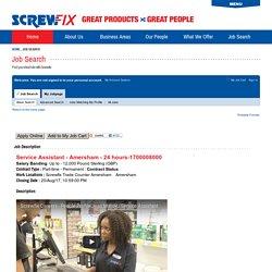 Job Description - Service Assistant - Amersham - 24 hours (1700008000)