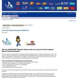 Job Description - Accounts Payable Assistant (LEG0001A4)
