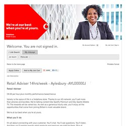 Job Description - Retail Adviser 14hrs/week - Aylesbury (AYL00000J)
