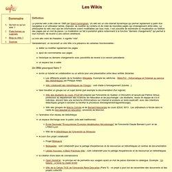 Les Wikis : description, usages en bibliothèques
