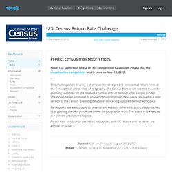 U.S. Census Return Rate Challenge (Visualization Competition)