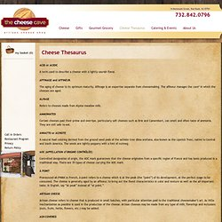 cheese flavor- cheese description- types of cheeses - Cheese Cave Artisan Cheese Shop