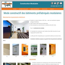 Description du mode constructif modulaire