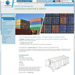 Description des conteneurs maritimes (container maritime)