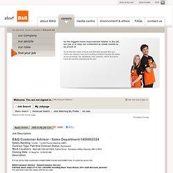 Job Description - B&Q Customer Advisor - Sales Department (1400002324)
