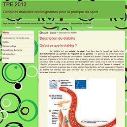 Description du diabète - TPE 2012