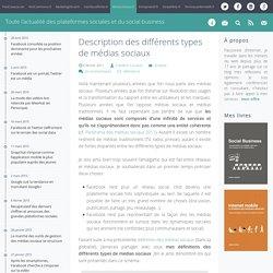 Description des différents types de médias sociaux - MediasSociaux.fr