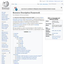 Resource Description Framework - Wikipedia, the free encyclopedi