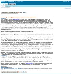 Job Description - Internship - Energy, Environment and Networks (PAR0004W)