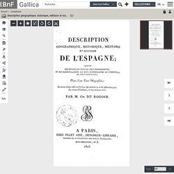 1823.- Description géographique, historique, militaire et routière de l'Espagne... par M. Ch. Du Rozoir