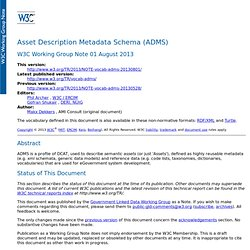 Asset Description Metadata Schema (ADMS)