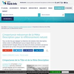 Meta Description et SEO : pourquoi et comment l'optimiser
