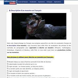Description d'un monstre en français